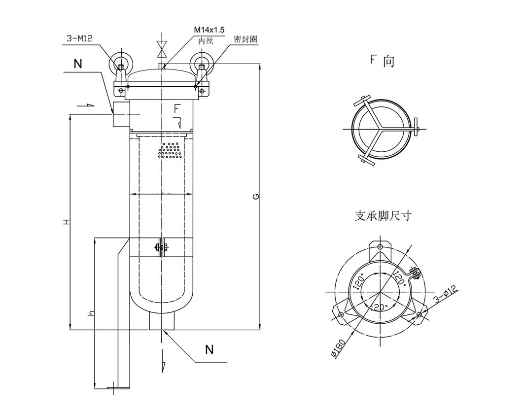 侧入式袋式过滤器结构示意图